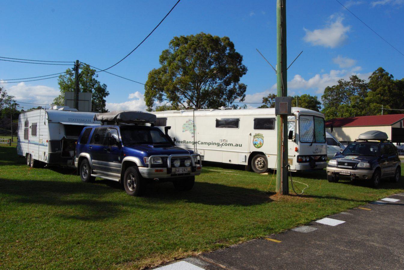 The FreeRange Camping crew at Murwillumbah Showgrounds
