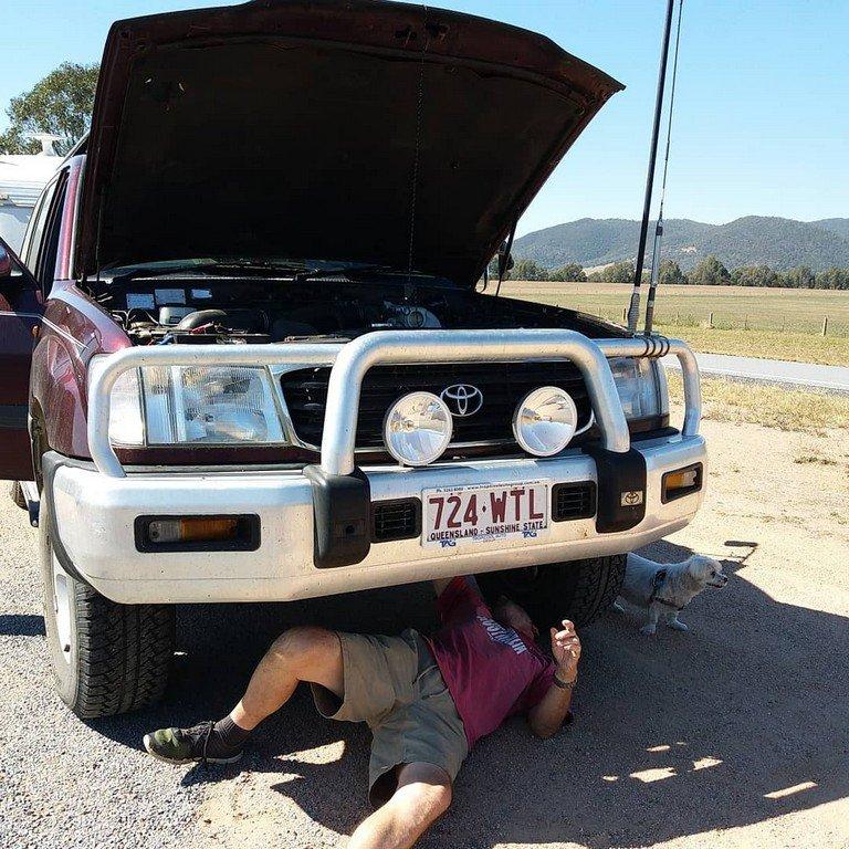 Keith Checking breakdown at Thologolong