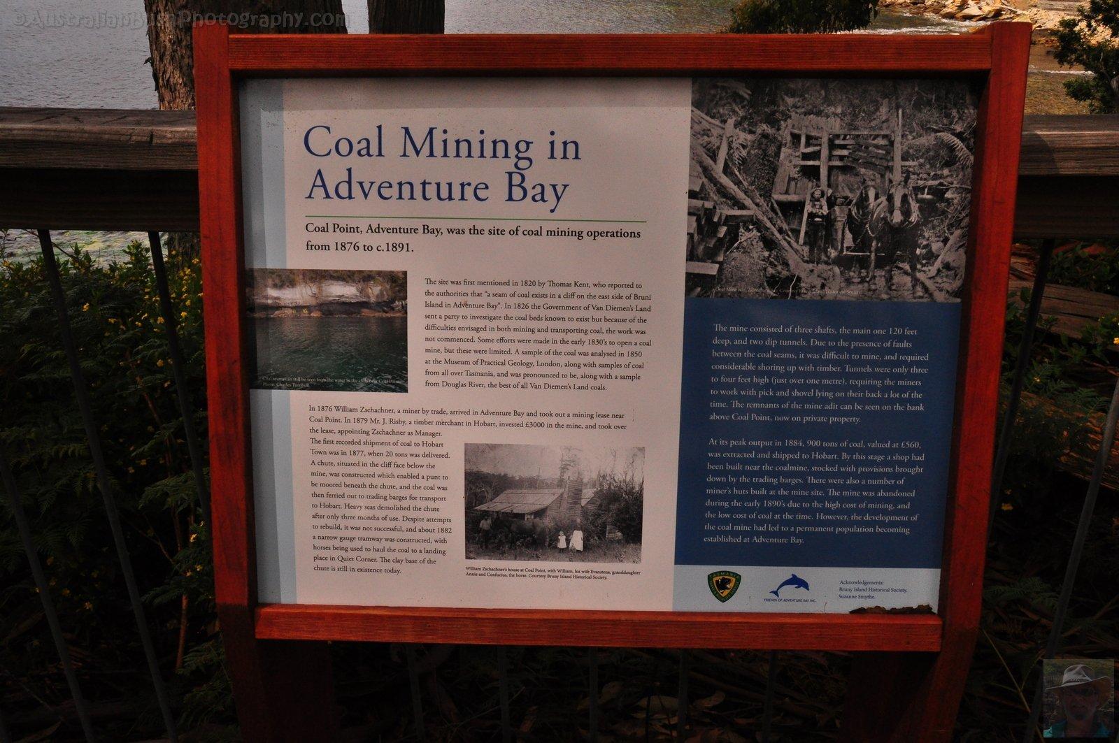 Coal Point History Adventure Bay